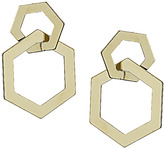 Topshop Double Hexagon Drop Earrings