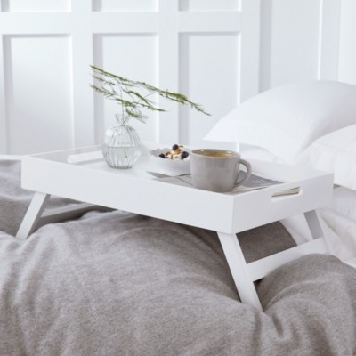 The White Company Matte White Breakfast in Bed Tray, White, One Size