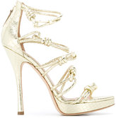Alberta Ferretti knotted stiletto sandals - women - Leather - 36.5