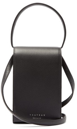Tsatsas Malva 3 Grained-leather Bag - Black