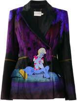 Mary Katrantzou Centaur velvet printed blazer