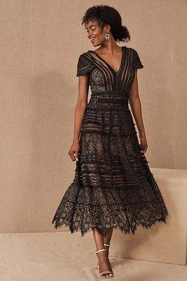 Tadashi Shoji Orinda Dress By in Black Size 0