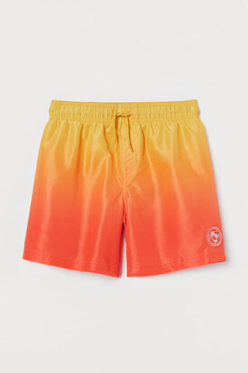 H&M Patterned Swim Shorts - Red
