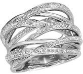 Effy Jewelry Effy Pave Classica 14K White Gold Diamond Ring, 0.71 TCW