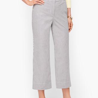 Talbots Wide Leg Crop Chinos - Oxford Stripe