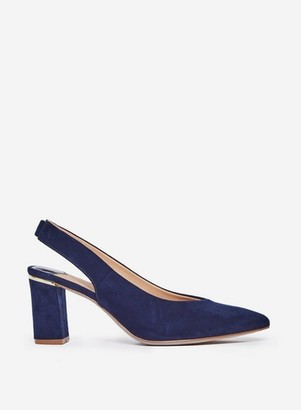 Dorothy Perkins Womens Wide Fit Navy 'Emily' Court Shoes