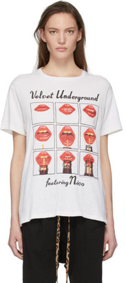 R 13 Off-White The Velvet Underground Edition Lips Boy T-Shirt