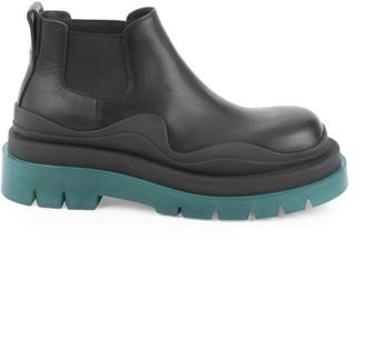 Bottega Veneta Contrast Leather Chelsea Boots