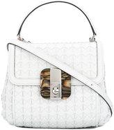 Serapian logo buckle satchel