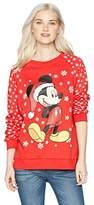 Disney Women's Mickey Glitter Christmas Sweater