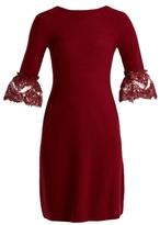 Oscar de la Renta Scoop-back fluted-cuff wool dress