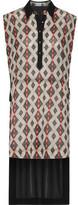 Camilla Asymmetric Paneled Printed Crepe De Chine Shirt Dress