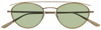 Oliver Peoples Hightree oval-frame sunglasses