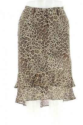 Georges Rech Brown Silk Skirt for Women