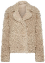 Theory Shearling Coat - Beige