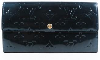 Louis Vuitton Teal Monogram Vernis Leather Sarah Wallet