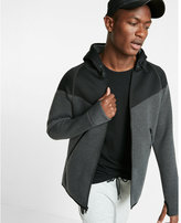 Express EXP Tech Color Block Zip Front Hoodie