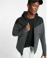 Express EXP tech color block zip front hoodie