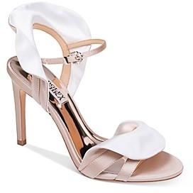 Badgley Mischka Women's Ella Ruffle High-Heel Sandals