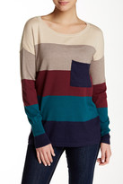 Love Stitch Colorblock Striped Sweater