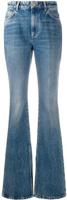 ATTICO High-Waisted Bootcut Jeans