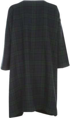 Daniela Gregis Reversible Checked Lambswool Coat