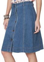 Chaps Petite Denim A-Line Skirt