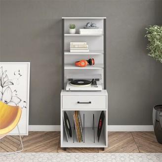 Ebern Designs Chet Multimedia Media Shelves Color: Dove Gray