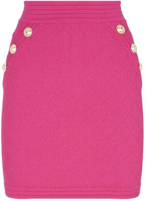 Balmain Diamond Knit Mini Skirt