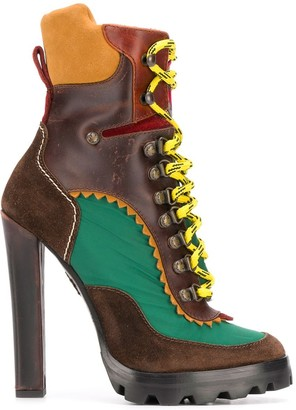 DSQUARED2 Panelled High-Heeled Boots