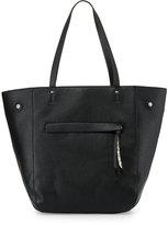 Neiman Marcus Snake-Embossed Shopper Tote Bag, Black