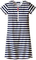 Toobydoo Navy/White Stripe Short Sleeve Surf Dress (Infant/Toddler/Little Kids/Big Kids)