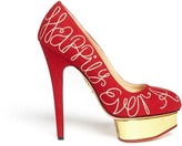 Happily Ever After embroidery Dolly pumps