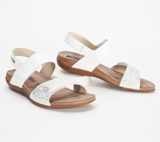 Mephisto Leather Adjustable Back-Strap Sandals - Agave