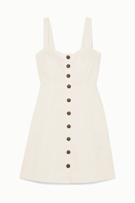 Madewell Linen And Cotton-blend Mini Dress - Off-white