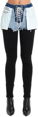 Unravel Project Denim Short Detail Leggings