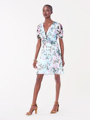 Diane von Furstenberg Jillian Silk-Chiffon Mini Dress