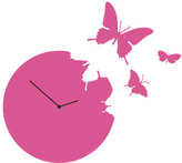 Diamantini Domeniconi Diamantini & Domeniconi Butterfly Clock Magenta