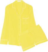 Equipment Liliane washed-silk pajama set