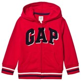 Gap Pure Red Shadow Logo Fleece Zip Hoodie