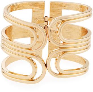 Max Studio Ribbed Open Hinge Bangle Bracelet