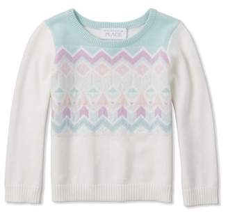 Children's Place The Baby Toddler Girl Fairsile Knit Sweater