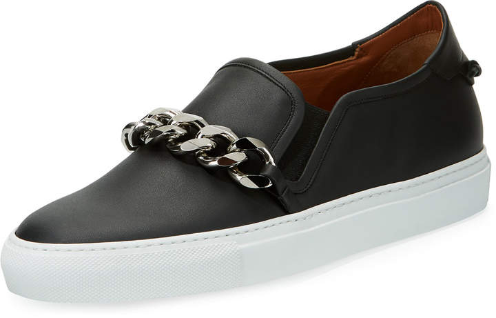 Givenchy Leather Skate Sneakers w/ Chain