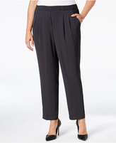 Calvin Klein Plus Size Soft Straight-Leg Pull-On Pants