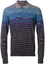 Missoni gradient effect knit polo shirt