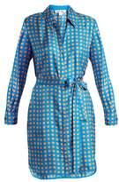 Diane von Furstenberg Square-print silk dress