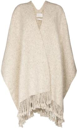 LAUREN MANOOGIAN Tassel Trim Knit Scarf