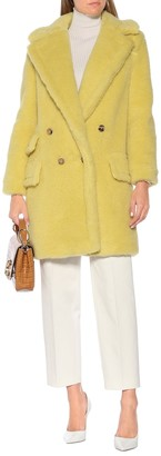 Max Mara Adenia alpaca and wool-blend coat
