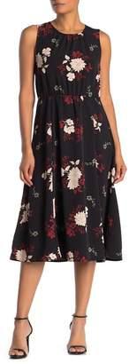 Bobeau Francis Tie-Back Midi Dress