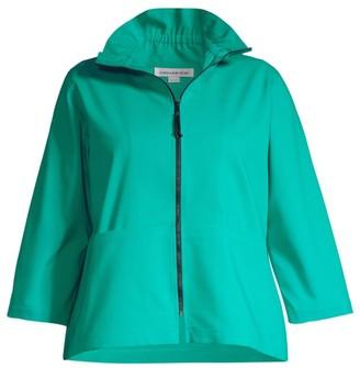 Caroline Rose, Plus Size Spring Prints Charming Summer Jacket